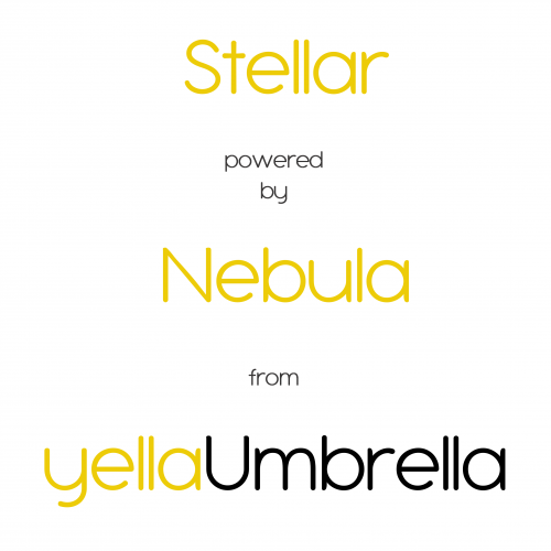 Stellar powered by Nebula from yellaUmbrella - white