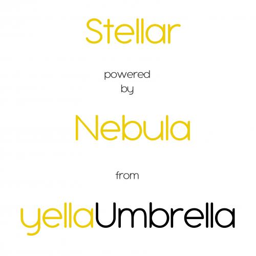 Stellar powered by Nebula from yellaUmbrella - white